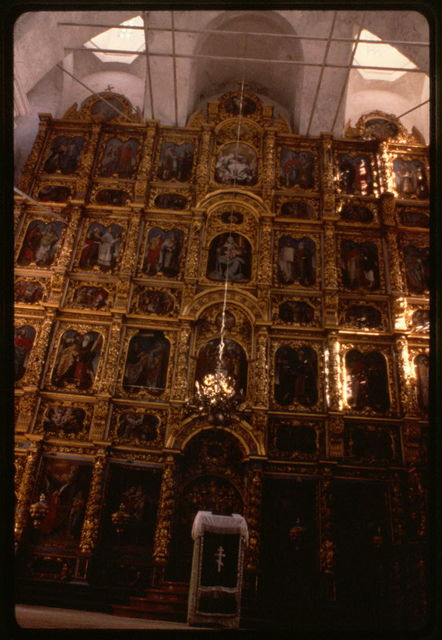 Church of the Presentation of the Virgin (1688-93), interior, view east toward icon screen, Sol'vychegodsk, Russia