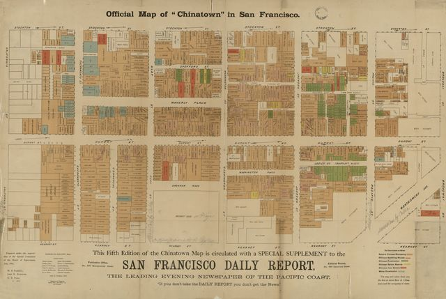 "Official map of ""Chinatown"" in San Francisco /"