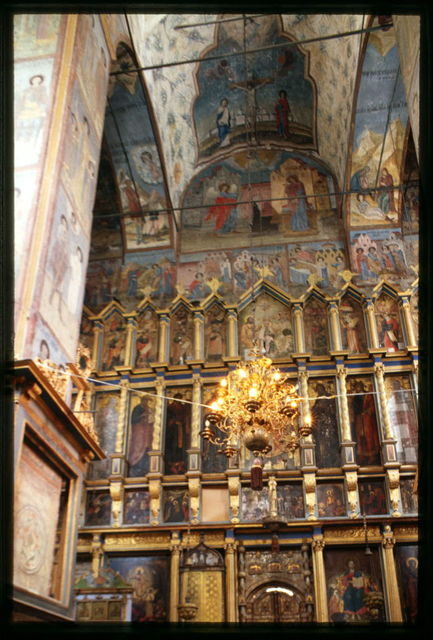 Cathedral of the Annuciation (1560-84), interior, view east toward icon screen (late 17th century), Sol'vychegodsk, Russia