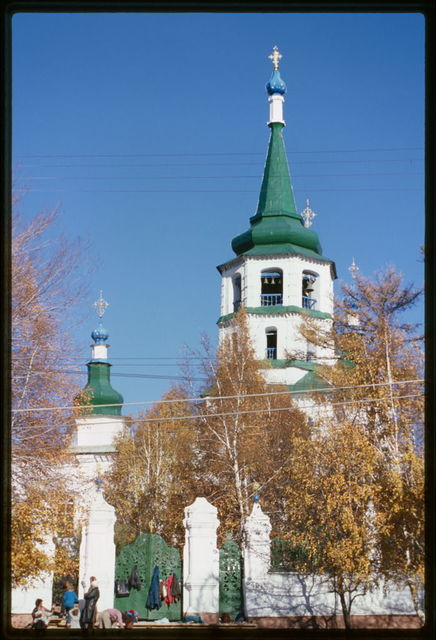 Church of the Elevation of the Cross (1747-58), west view, Irkutsk, Russia