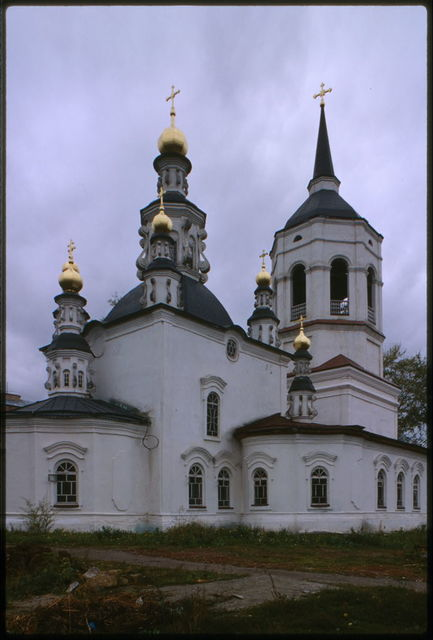 Church of the Kazan Icon of the Mother of God (formerly of Bogoroditse-Alekseevskii Monastery) (1767-1789), northeast view, Tomsk, Russia