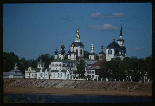 Dormition Cathedral ensemble, west view, Vilikii Ustiug, Russia