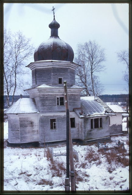 Log Church of Elijah the Prophet (1732), north view, Rostovskoe, Russia