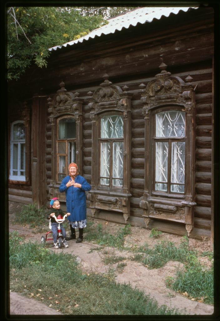 Log house, Turgenev Street #59 (late 19th century), Tiumen', Russia