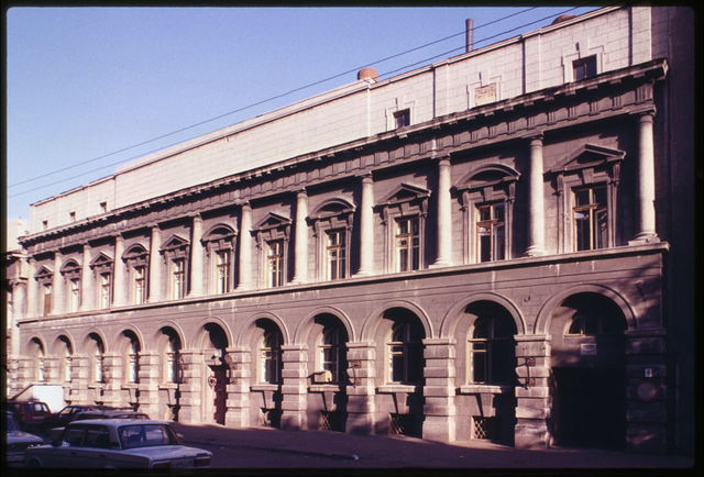 Treugolnik Company building (1915), southeast view, Omsk, Russia