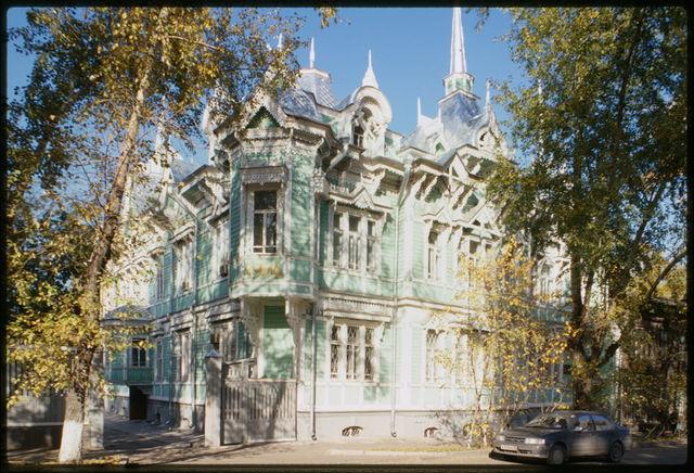 Wooden house, Belinskii Street #19 (1917), Tomsk, Russia