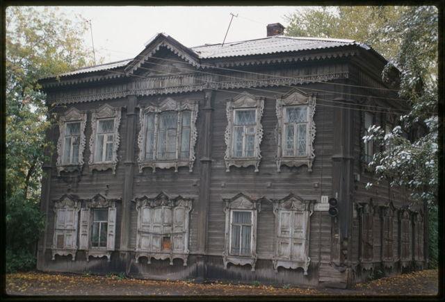 Wooden house, Krasnoarmeiskaia Street #88 (around 1900), Tomsk, Russia