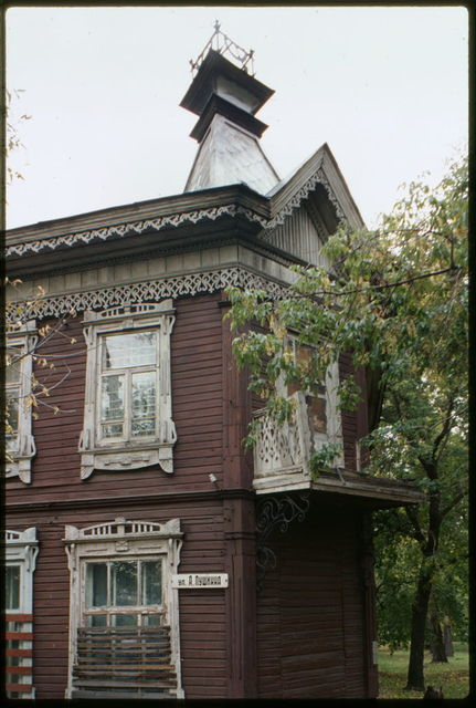 Wooden house, Pushkin Street #45 (late 19th century), Barnaul, Russia