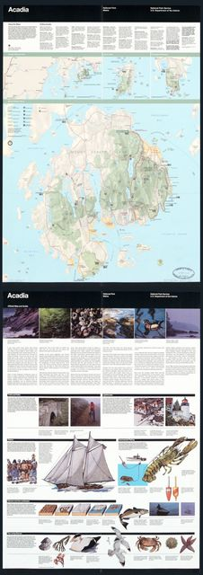 Acadia National Park, Maine, official map and guide /