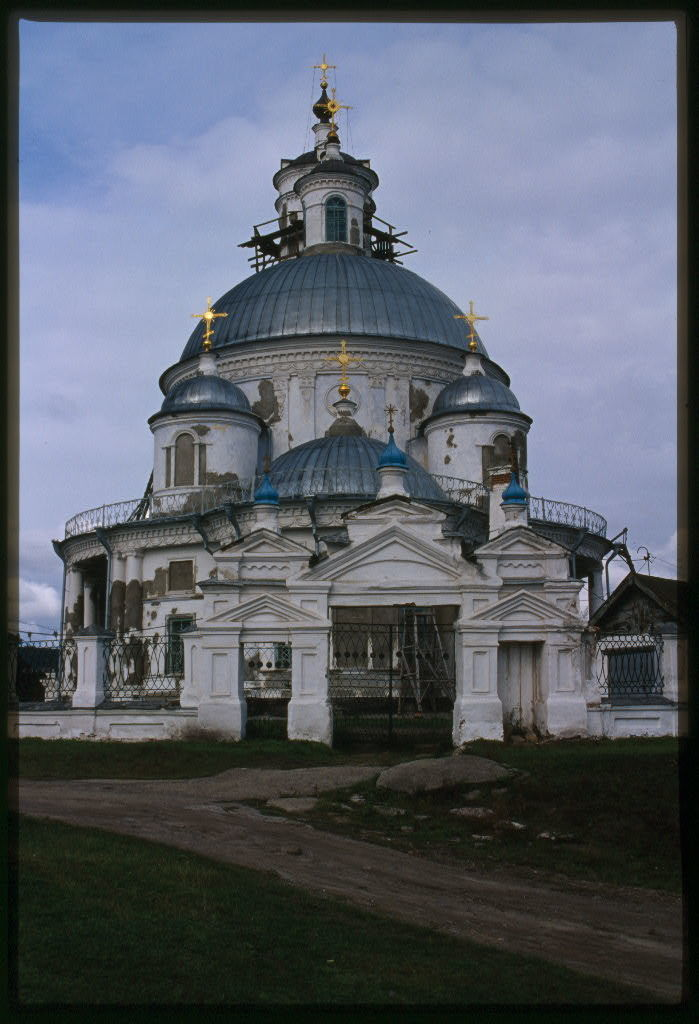 Church of the Kazan Icon of the Virgin (1814-16), east view, Tel'ma, Russia