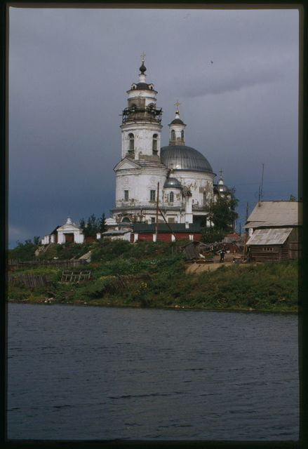 Church of the Kazan Icon of the Virgin (1814-16), southwest view, Tel'ma, Russia