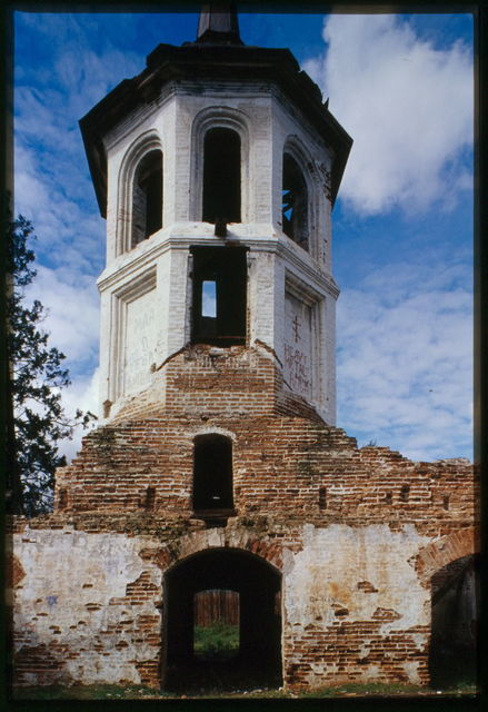 Church of the Purification (1788), west facade, bell tower, Bel'sk, Russia