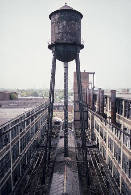 Former Packard Plant, E. Grand Blvd. at Concord, Detroit, 2000 (Water tower)