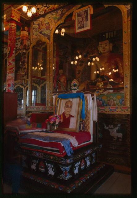 Ivolginsk Buddhist Datsan, main temple interior, Buddha shrine, Ivolga, Russia