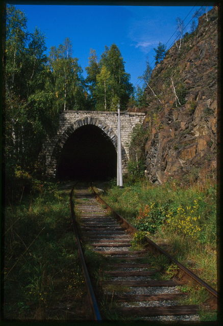 Lake Baikal Circumference Railway, tunnel (early 20th century), Baikal, Russia