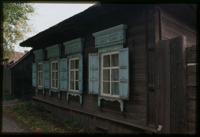 Log house, Lenin Street (late 19th century), Usol'e Sibirskoe, Russia