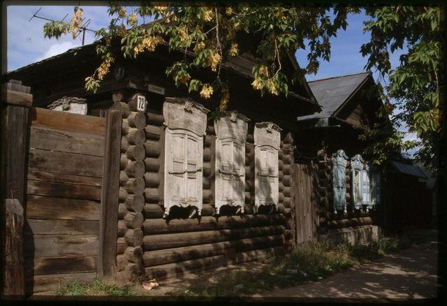 Log houses (late 19th century), Usol'e Sibirskoe, Russia