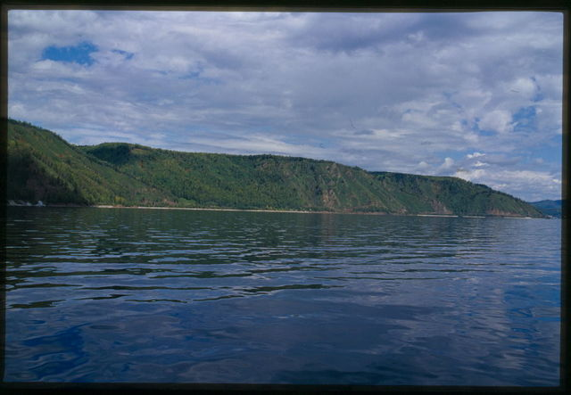 Panorama of Lake Baikal with Kamni-Ponamarevskie Mountains, Baikal, Russia