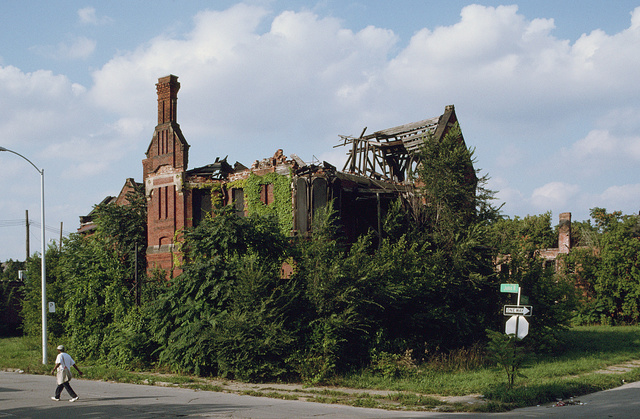 Ransom Gillis Mansion, Alfred at John R Streets, Detroit, 2000