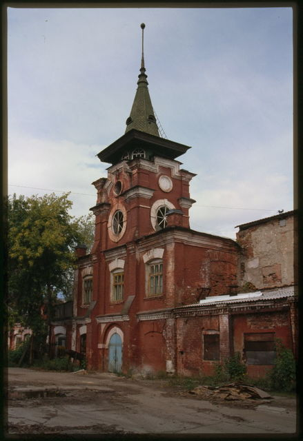 Solntse Match Factory (1911), main tower, Usol'e Sibirskoe, Russia