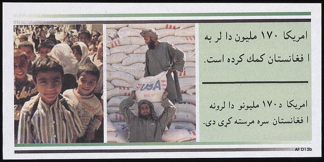 [America has provided over $170 million in aid to Afghanistan ... ]