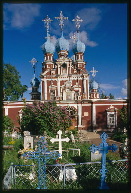 Church of the Kazan Icon of the Virgin (1694), west facade, Ustiuzhna, Russia