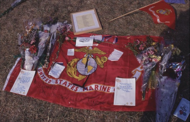 Memorial at the Pentagon-Marine Flag
