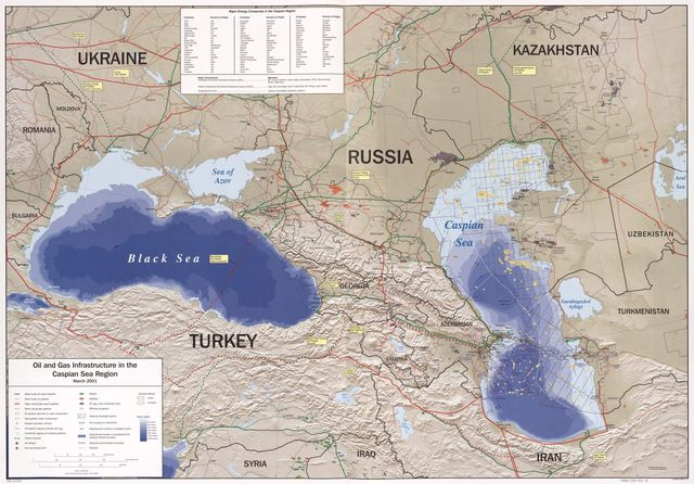 Oil and gas infrastructure in the Caspian Sea region : March 2001.