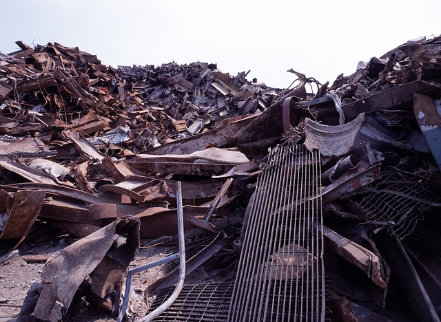Rubble removed from Ground Zero, site of the attack on the World Trade Center Twin Towers in New York City