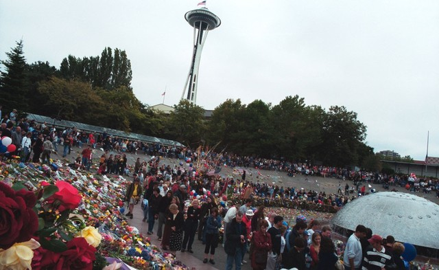 Vigil Near the Seattle Space Needle