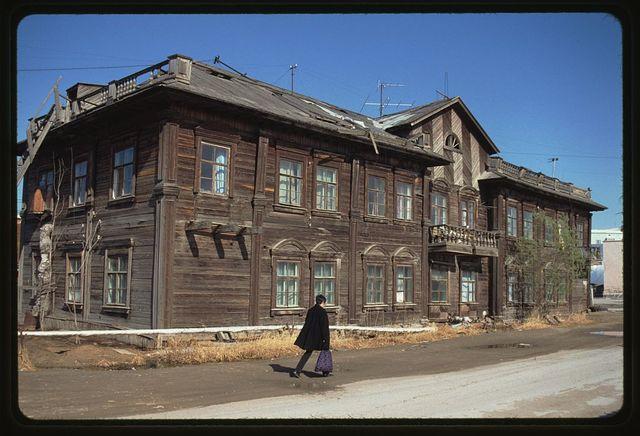 Apartment house, Lermontov Street, (around 1930), Yakutsk, Russia