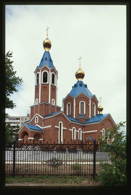 Church of the Kazan Icon of the Mother of God, (2001), southwest view, Komsomol'sk-na-Amure, Russia