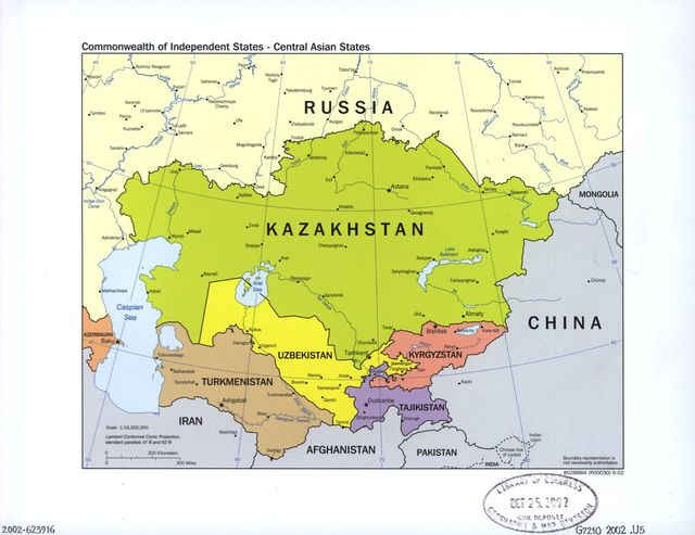 Commonwealth of Independent States--Central Asian states.