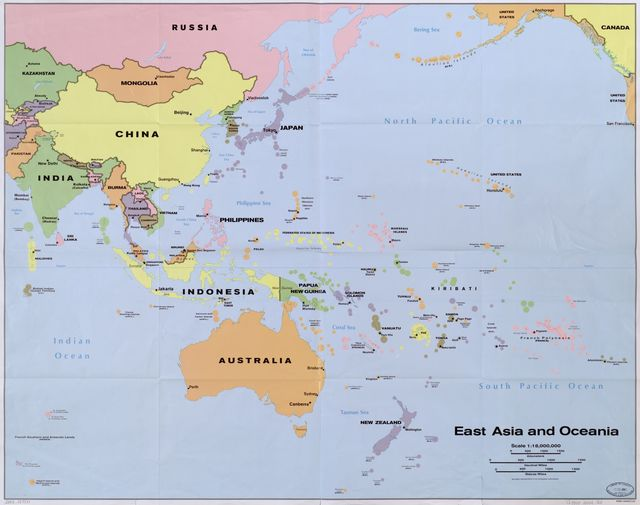 East Asia and Oceania.