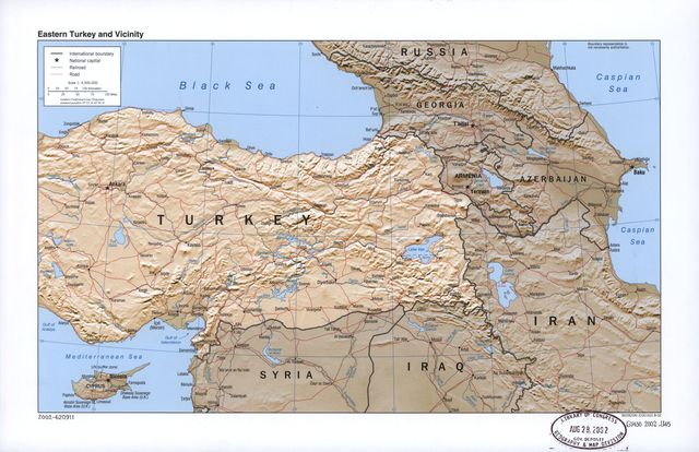 Eastern Turkey and vicinity.