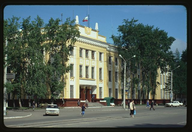 Main Post Office (Peace Prospect 27), (1956), Komsomol'sk-na-Amure, Russia