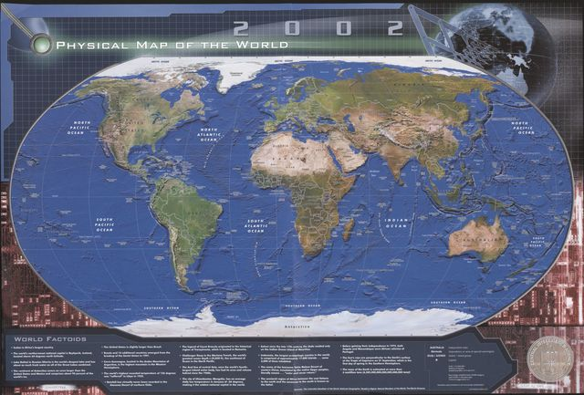 Physical map of the world, 2002.