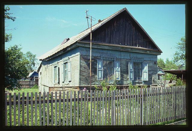 Wooden house (Soviet Street 10), (around 1910), Troitskoe, Russia