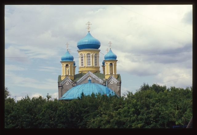 Cathedral of Saint Nicholas (1875), east view, Verkhneural'sk, Russia