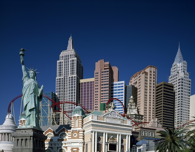 If Las Vegas, Nevada, is a façade of reality, the compressed Manhattan skyline at the New York New York resort is a prime example