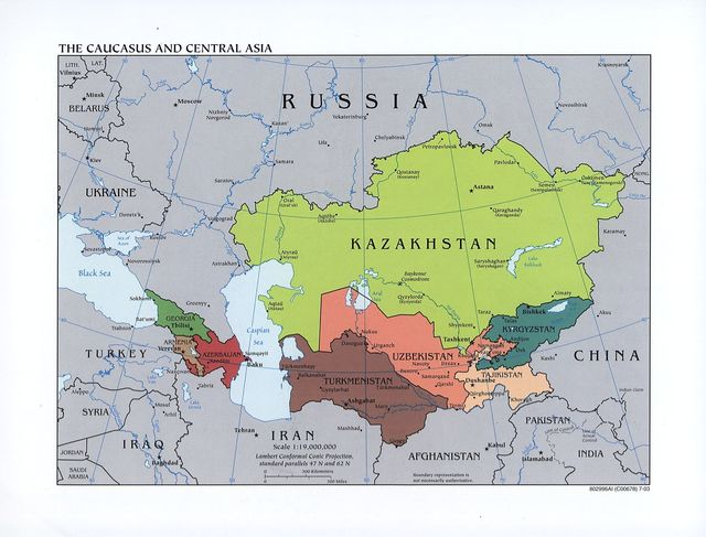 The Caucasus and Central Asia.