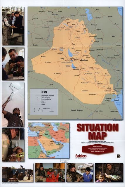 Iraq, situation map.