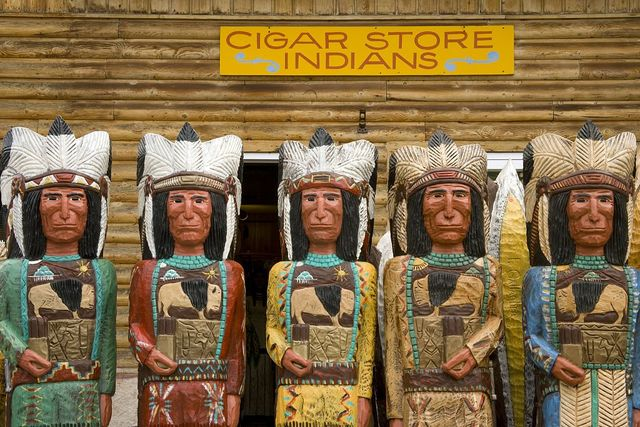 Cigar Store Indian statues, Jackson Hole, Wyoming