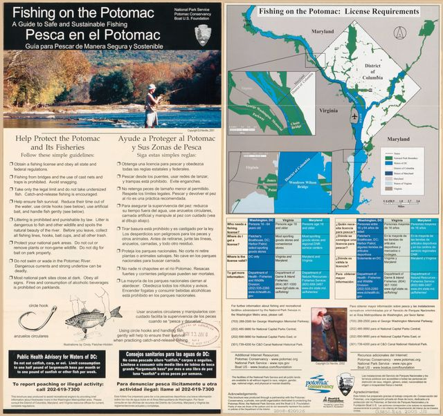 Fishing on the Potomac : a guide to safe and sustainable fishing : [Washington D.C. metropolitan area] /