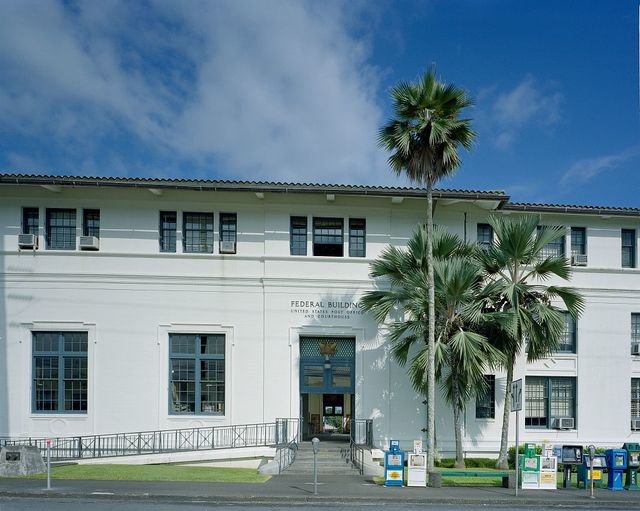Photographs of the Federal Building and U.S. Post Office in Hilo, Hawaii