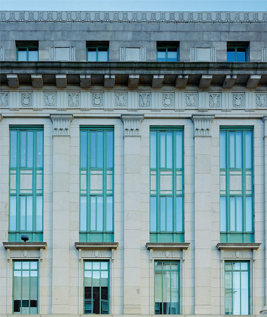 Photographs of the Harold D. Donohue Federal Building and Courthouse in Worcester, Massachusetts