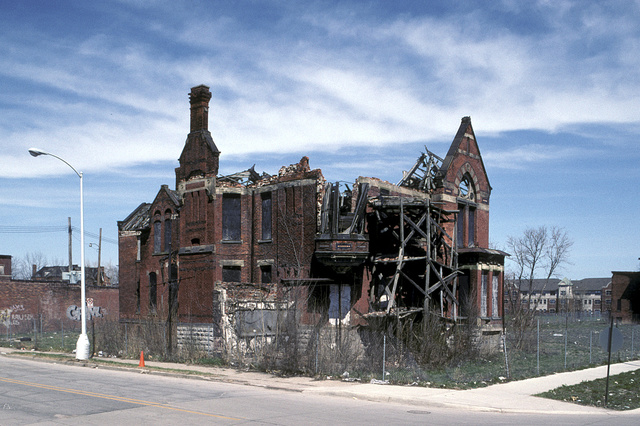 Ransom Gillis Mansion, Alfred at John R Streets, Detroit, April 2005