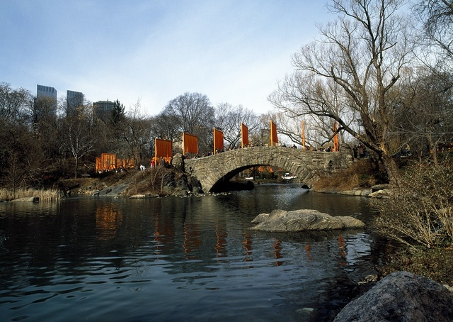 The Gates, a site-specific work of art by Christo and Jeanne-Claude in Central Park, New York City