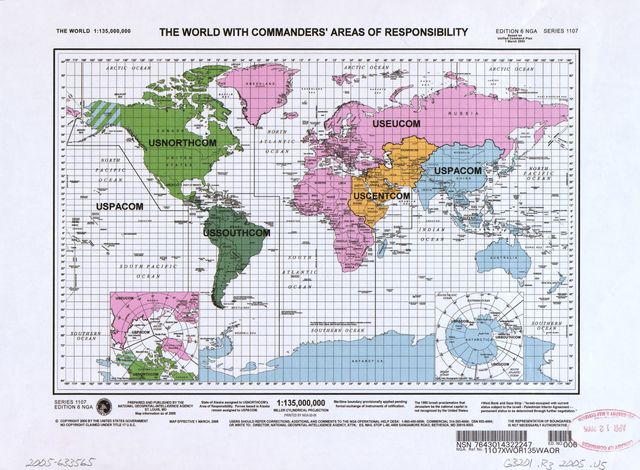 The world with commanders' areas of responsibility /