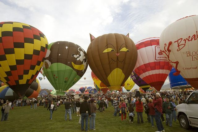 Annual balloon festival, Albuquerque, New Mexico